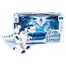 """Робот электронный, игрушка стреляет присосками ходит MAYA TOYS """"Боевой дракон"""" 0830 белый"""