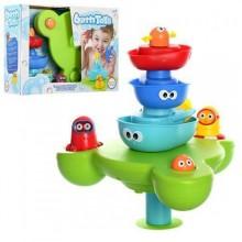 Игровой набор для купания игрушка для ванной Водопад D40115 кораблики на стойке