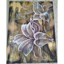 "Картина маслом ""Лилия на золоте"" холст 80*60 см"