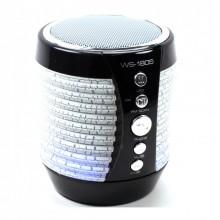 Портативная Bluetooth колонка WSTER WS-1805 с подсветкой Черный