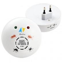 Ультразвуковой отпугиватель грызунов и насекомых Zha ZF- 830E белый