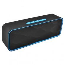 Беспроводная портативная Bluetooth-колонка Strong Power SC-211 черный с голубым