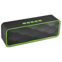 Беспроводная портативная Bluetooth-колонка Strong Power SC-211 черный с зеленым