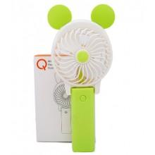 Ручной мини вентилятор на аккумуляторе Qfan зеленый
