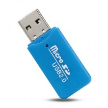 MicroSD card reader адаптер для USB Blue