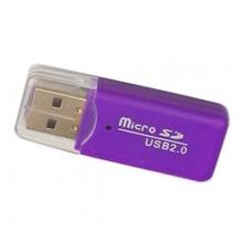 MicroSD card reader адаптер для USB Фиолетовый