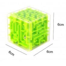 """3D-головоломка """"Куб"""" трехмерный лабиринт салатовый"""