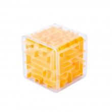 """3D-головоломка """"Куб"""" трехмерный лабиринт оранжевый"""