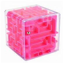 """3D-головоломка """"Куб"""" трехмерный лабиринт розовый"""