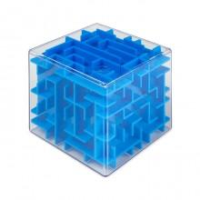 """3D-головоломка """"Куб"""" трехмерный лабиринт синий"""