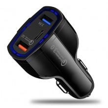 Автомобильная зарядное устройство Quick Charge 3.0 SY-KC368 черный