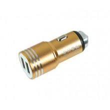 Автомобильное зарядное устройство jbs-c001 золотистый цвет