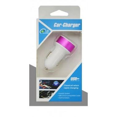 Автомобильное зарядное устройство SHZONS белый с фиолетовым