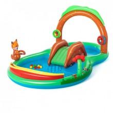 Детский надувной игровой центр-бассейн Bestway 53093 Лес объем 214 л возраст 2+ с фонтаном