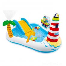 """Детский игровой надувной центр бассейн """"Рыбалка"""" Intex 57162 горка шарики удочка надувная"""