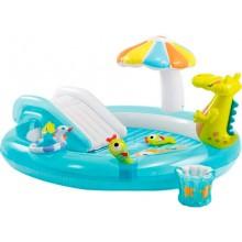 Надувной игровой центр-бассейн Intex 57165 Крокодильчик от 2х лет