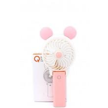 Ручной мини вентилятор на аккумуляторе Qfan розовый