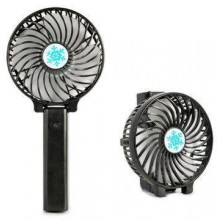 Ручной мини вентилятор на аккумуляторе с фонариком Handy Mini QFan USB диаметр 10см черный