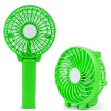 Ручной мини вентилятор на аккумуляторе с фонариком Handy Mini QFan USB диаметр 10см зеленый